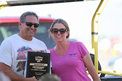 Trish Byrd accepting his award for his first place finish in Classic Muscle at Hotchkis Cup Autocross Challenge