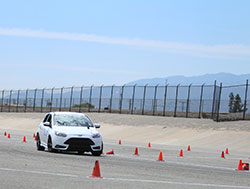 Kerry Ann Adams driving her 2014 Ford Fiesta at Hotchkis Cup Autocross Challenge
