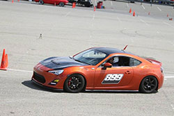 Hotchkis Engineer, Aaron Ogawa, laying down the fastest lap times on Saturday at Hotchkis Cup Autocross Challenge