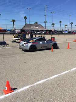Caesar Martinez and his 2005 Nissan 350Z at Hotchkis Cup Autocross Challenge