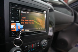 The in-dash head unit was provided by Pioneer and the other audio and visual was supplied by Sonda and ACT Mobil.