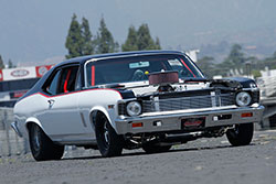 Paul Summers 1972 Chevy Nova with LS7 and billet rearview mirror