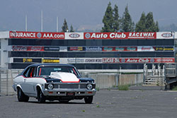 Paul Summers 1972 Chevy Nova with LS7 at Auto Club Raceway at the Fairplex in Pomona