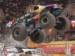 Monster Jam continues at the Wachovia Arena in Barre, Pennsylvania