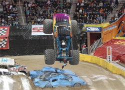 Major air and carnage were part of the tough competition at Monster Jam in Ohio
