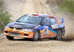 Andrew Comrie Picard was aggressive enough at the Olympus Rally to put him in first place in points in the Rally America Championship Series