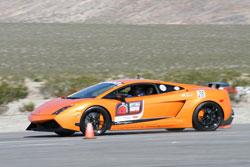 Mark Capener raced his 2011 Lamborghini Gallardo in the 2012 OPTIMA Ultimate Street Car Invitational.
