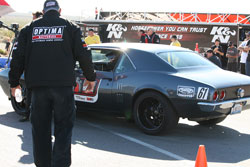 Mike Ardito raced his 1967 Pontiac Firebird in the 2012 OPTIMA Ultimate Street Car Invitational.