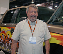 ORBA Executive Director Fred Wiley uses his Ford F-150 to meet with officials in the off-road industry