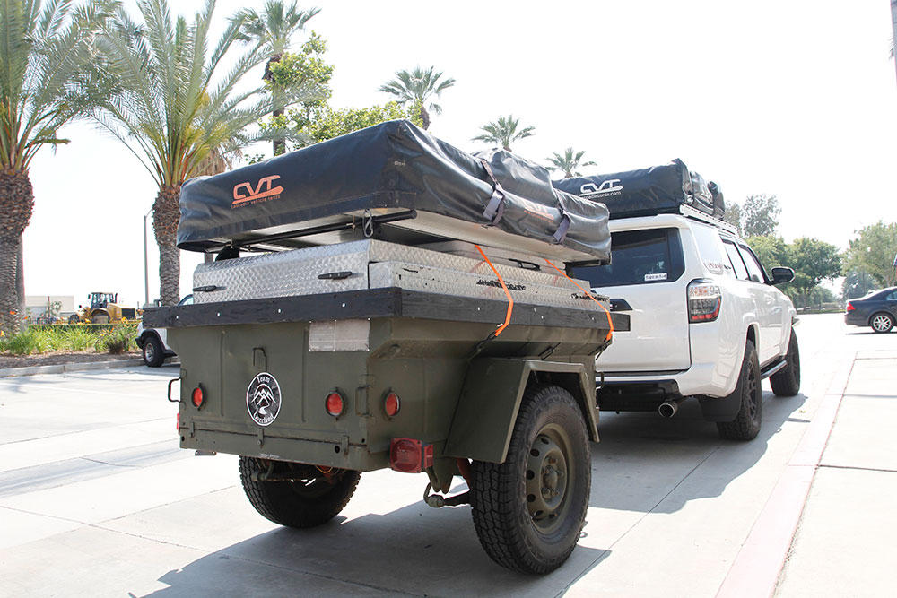 Team Overland 2016 Toyota 4Runner equipped with Cascadia Roof Top Vehicle Tents & Heroes Helping Heroes at Team Overland