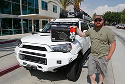 Team Overland Founder and Executive Director, Matthew Havniear with K&N intake for Toyota 4Runner