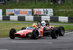 Peter Alexander and driver Darren Burke secured the 2010 Historic Formula Ford Championship with three races yet to go.
