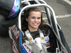 Rochelle says that although she still really likes competing in NHRA Junior Drag Racing League, she feels she ready to take on new challenges in a full-size race car.