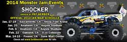 The 2014 event schedule for the Shocker Monster truck