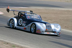 Shaking down a steering issue in the LS7 powered Morgan Aero 8 GTR is how Paul Brown got seated in the car. A first in class and fourth overall at the Road America road race was the result.