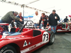 It was another unplanned occurrence that put Brown behind the wheel of a vintage 1971 Alfa Romeo T33 at the Monterey Motorsports Reunion.