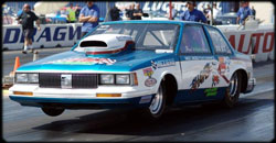 "Wiechman's Cutlass Ciera was formerly owned and driven by the late ""Dyno Don"" Nicholson."