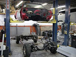 Here is where body and the frame of the GTO become one again