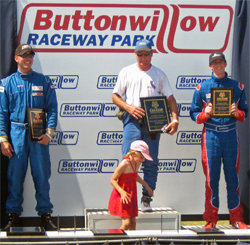Jacob Pearlman far right on the podium at Buttonwillow Raceway Park in California