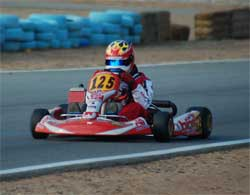 Jacob Pearlman on front straight at Moran Raceway