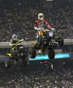 Canadian ATV racer Richard Pelchat at Montreal Supercross