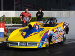 Peter Biondo at the 47th annual Automobile Club of Southern California NHRA Finals