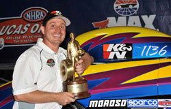With this latest victory Biondo now has been to 58 National NHRA finals and he's won 39 of those appearances.