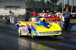 K&N's Peter Biondo has already won back-to-back NHRA Super Gas Events in this 1963 Corvette Roadster.