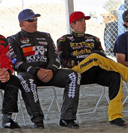 Carey Hart and Alan Pflueger kick off first weekend of short course dirt track racing at new facility in Lake Elsinore, California