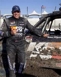 Hawaiian native Alan Pflueger at the Lucas Oil Off Road Racing Series in Lake Elsinore, California