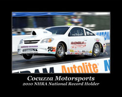 2010 NHRA National Record Holder Phil Cocuzza
