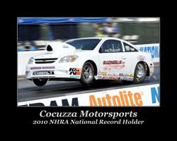 2010 NHRA National Record Holder Phil Cocuzza