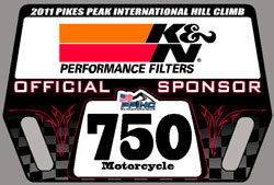 K&N is the Official sponsor of the 2011 PPIHC. Custom Pit board displayed on the grid and at class start, K&N Logo will grace the 750 class trophies