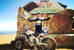 Marco Belli and his handmade Zaeta have made it to the podium 3 of the 5 times he's competed at Pikes Peak.