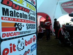 Dicati booth at the annual race at Pikes Peak Colorado.