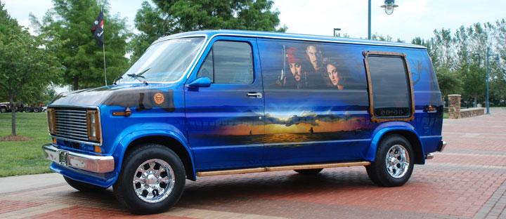 """Custom 1976 Ford Van known as """"Pirates of the Caravan"""""""