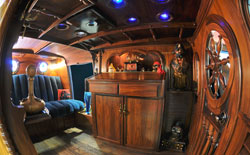 "Custom wood interior for the ""Pirates of the Caravan"""
