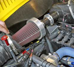 Corvette Racing uses special K&N air filters