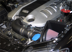 63-3071 K&N air intake system installed on a 2008 Pontiac V8 with a 6.0 liter V8 engine