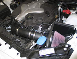 63-3072 K&N air intake system installed on a 2008 Pontiac V6 with a 3.6 liter V6 engine