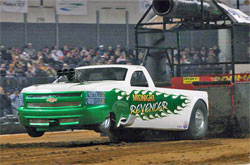 2008 Chevrolet named The Midnight Revenger in the Pro Pulling League's Super Modified 2WD Truck Class