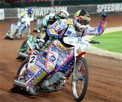 Special Kevlar lined glove helped Jason Crump ride to first place at Parken Stadium in Copenhagen