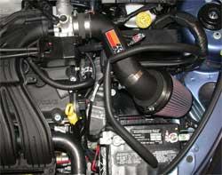 Chrysler PT Cruiser with K&N air intake 57-1550 installed