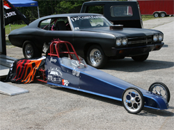 Mother and son tear up the local race track in Missouri with her 1970 Chevelle and his junior dragster