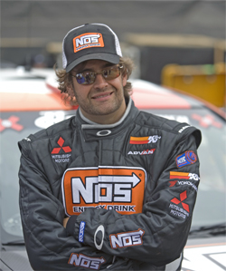 Andrew Comrie-Picard is tied for the lead in the Rally American National Championship Series