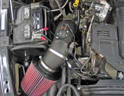 57-1557 K&N air intake system installed in 2007 Dodge Ram 3500