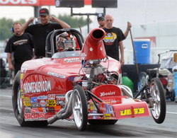 Alabama's David Rampy celebrated his 4th win at the NHRA Mac Tools U.S. Nationals at Indianapolis