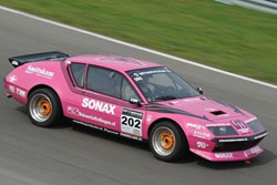 Randall Lawson and the little pink Renault that could, battled fiercely, and came away with another Division II Championship, and an incredible third overall at Zandvoort Trophy of the Dunes.