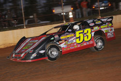 Cook and his number 53 car currently sit in fourth place in the latest version of the Lucas Oil Late Model Dirt Series (LOLMDS) point standings.