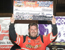 The $12,000 prize at Paducah International Raceway was Cook's biggest payday of the season thus far.